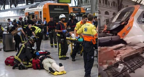 عشرات الجرحى في حادث قطار بإسبانيا