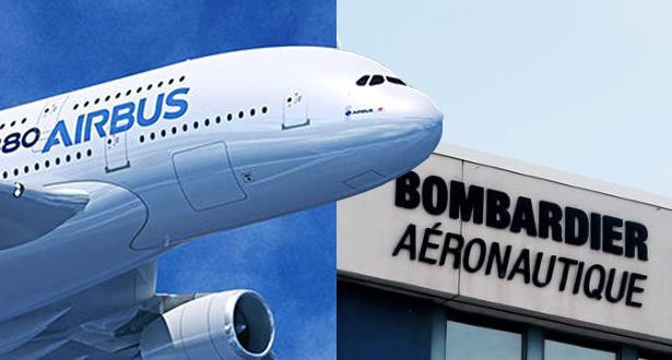 شراكة بين (إيرباص) و(بورمباردييه) لانتاج طائرات المسافات المتوسطة