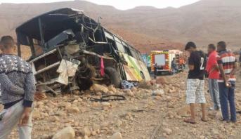 Errachidia: 5 morts et 21 blessés dans un accident de la route au niveau de la commune d'El Kheng