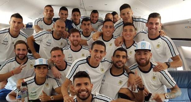 En images: la sélection argentine s'envole à New York pour la finale de la Copa America