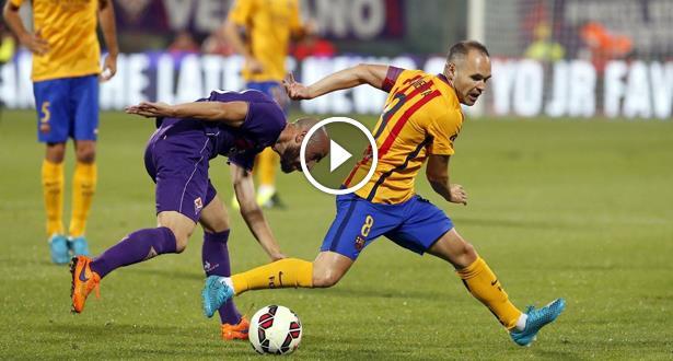 Vidéo: Les buts du match entre la Fiorentina et le FC Barcelone