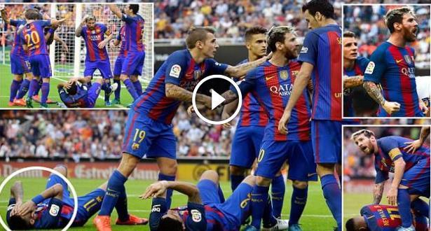 Liga: Messi sauve le Barça et s'emporte contre le public de Valence