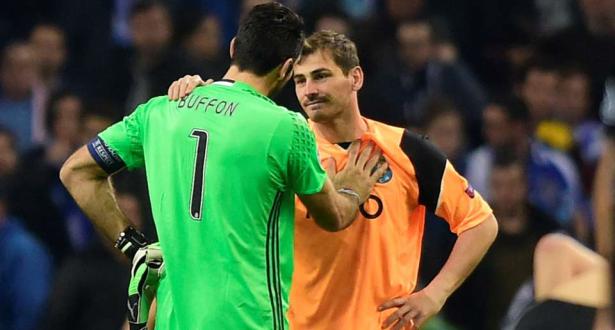 رسالة مواساة ودعم من كاسياس إلى بوفون بعد فشل إيطاليا في التأهل للمونديال