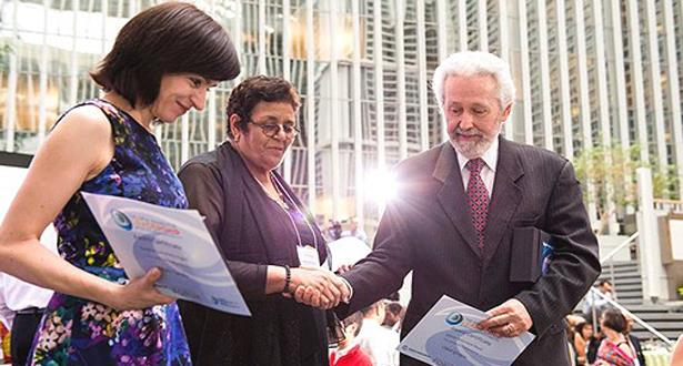 عائشة الشنا تفوز بجائزة البنك الدولي لأفضل رائد في مجال المساءلة الاجتماعية بمنطقة (مينا)