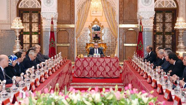 الملك محمد السادس يترأس مجلسا للوزراء بالقصر الملكي بفاس