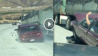 Vidéo: USA: Un camion tire une voiture sur 6 kilomètres..sans s'en rendre compte