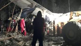 إصابة 25 شخصا في تحطم طائرة كندية غرب البلاد