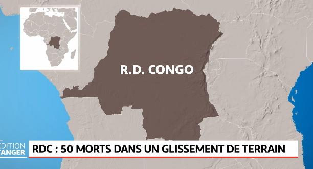 RDC: 50 morts dans un glissement de terrain