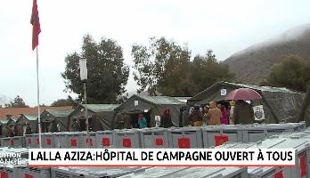 Chichaoua: L'hôpital militaire de campagne dispense ses prestations aux habitants de Lalla Aziza