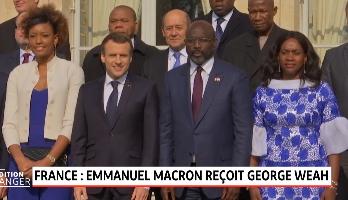 Macron et Weah misent sur le sport pour aider la jeunesse africaine
