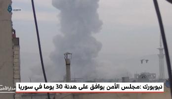 نيويورك.. مجلس الأمن يوافق على هدنة 30 يوما في سوريا