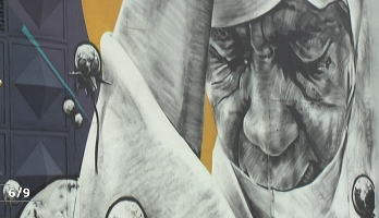 روبورتا ج .. الدار البيضاء .. مبادرة فنية لتزيين جداريات المدينة