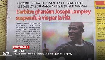 Fifa: suspension à vie de l'arbitre ghanéen Joseph Lamptey