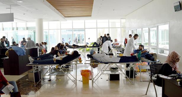 حملة للتبرع بالدم بالمركز الاستشفائي الجامعي محمد السادس بوجدة