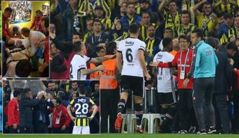 كأس تركيا .. أحداث دامية وإصابة مدرب بشيكتاش خلال الدربي أمام فنربخشة