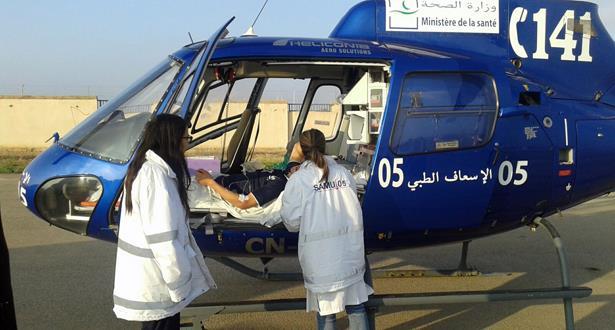 نقل شاب يعاني من أزمة تنفسية حادة من طنجة إلى الرباط بواسطة المروحية الطبية