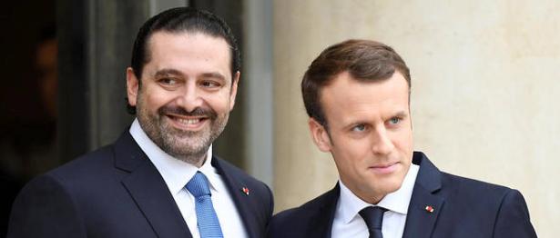 Saad Hariri accueilli par le président Macron à l'Élysée