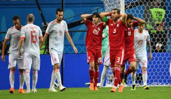 """إسبانيا تسجل وإيران تعادل قبل تدخل تقنية """"الفيديو"""""""