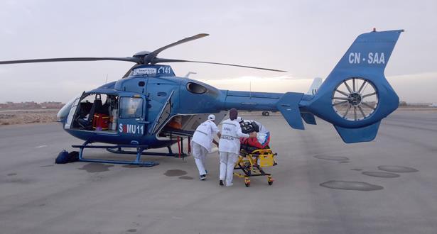 صور .. أزيد من 60 تدخلا بالمروحية الطبية الاستعجالية و4348 نقلا بريا لإنقاذ حالات صحية حرجة بالأقاليم الجنوبية