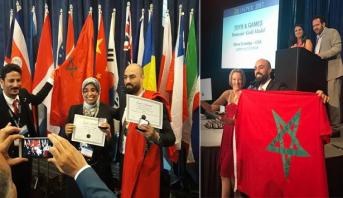 مخترعون مغاربة يلفتون الأنظار والعلم المغربي يرفرف في سماء أمريكا