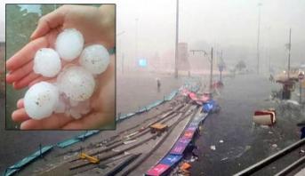 عاصفة رعدية عنيفة تضرب اسطنبول وتخلف جرحى وخسائر