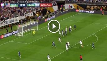 فيديو .. لافيتزي يُشعل مباراة الأرجنتين وأمريكا مبكرا بهدف يحمل أيضا توقيع ميسي