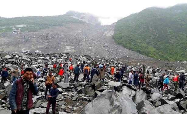 الصين..دفن 46 شخصا في انهيارات أرضية وفقدان أزيد من 140 آخرين
