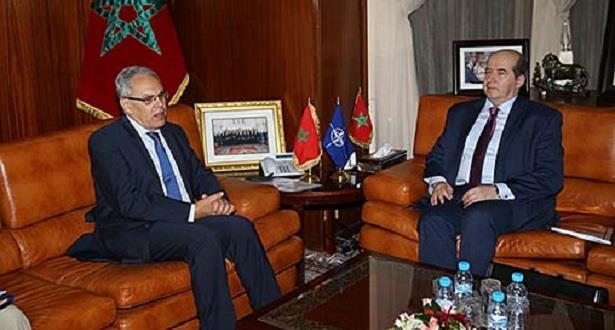 لوديي يستقبل مساعد الأمين العام لحلف شمال الأطلسي المكلف بالتحديات الأمنية الناشئة