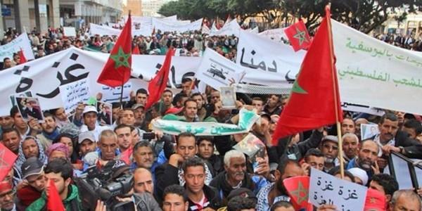 الرباط تتزين بعلم فلسطين في مسيرة تضامنية حاشدة تنديدا بالعدوان الإسرائيلي الغاشم