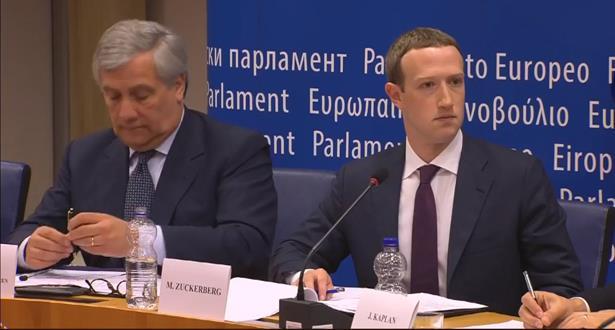 مارك زوكربرج يعترف ويعتذر أمام البرلمان الأوروبي
