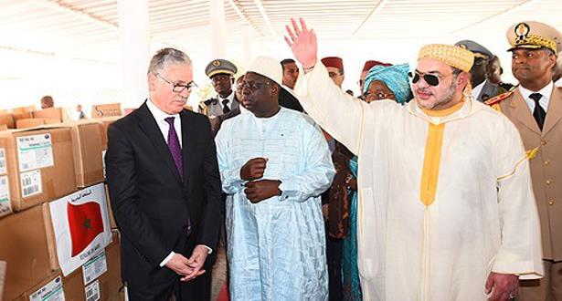 دكار : الملك محمد السادس يشرف على تسليم هبة 10 طن من الأدوية