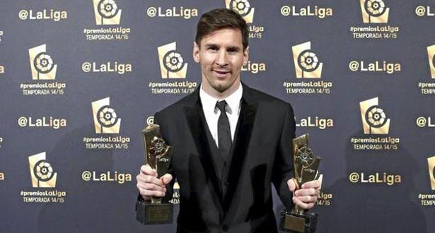 اختيار ميسي أفضل لاعب وهداف في الدوري الإسباني لموسم 2014-2015