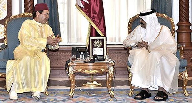Le Prince Moulay Rachid présente les condoléances du Roi Mohammed VI à Doha suite au décès de Cheikh Khalifa Ben Hamad Al-Thani