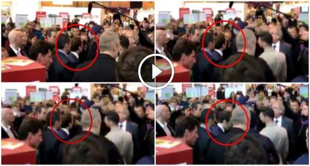 Vidéo: Macron cible d'un jet d'œuf  au Salon de l'Agriculture