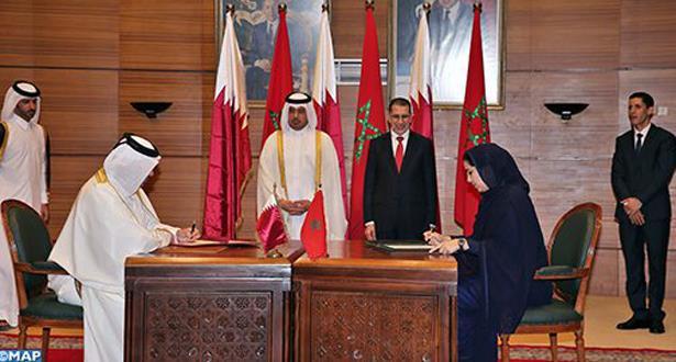 التوقيع على 11 اتفاقية تعاون في ختام أشغال اللجنة العليا المغربية -القطرية المشتركة