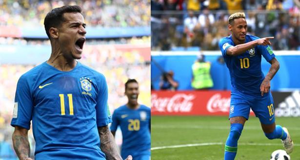 كوتينيو ونيمار يهديان البرازيل فوزا بشق الأنفس في مباراة مثيرة