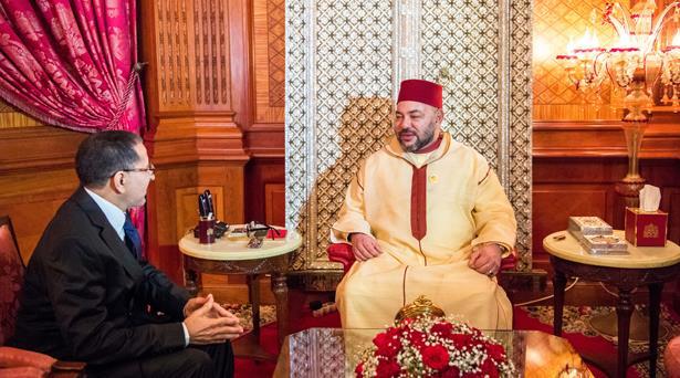 برقية تهنئة من الملك محمد السادس إلى سعد الدين العثماني بمناسبة انتخابه أمينا عاما لحزب العدالة والتنمية