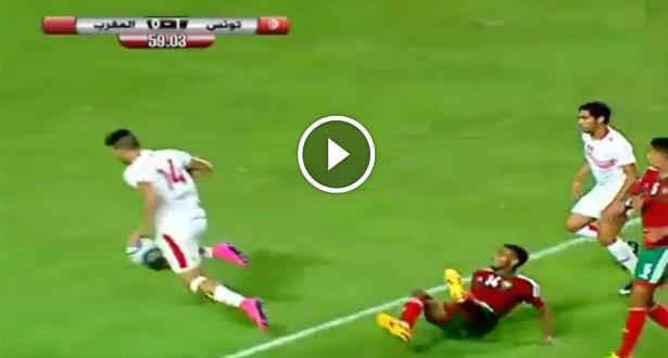 """فيديو .. ركلة جزاء """"غريبة"""" ومثيرة للجدل ضد المنتخب الأولمبي المغربي !"""