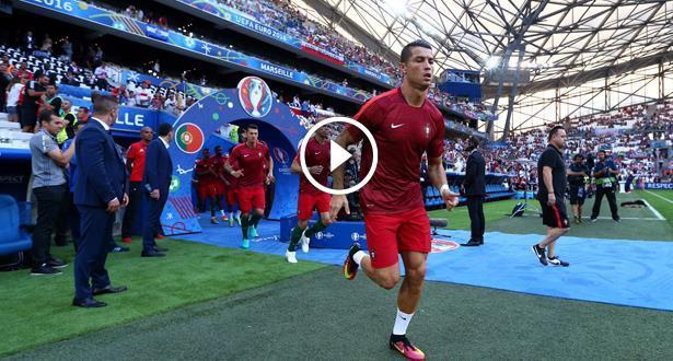 """فيديو .. التشكيلتان الرسميتان للبرتغال وبولندا في مباراة ربع نهائي """"اورو 2016"""""""