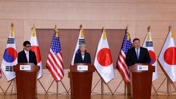 خارجية كوريا الجنوبية ترد على مزاعم ترامب إيقاف المناورات العسكرية مع سيول