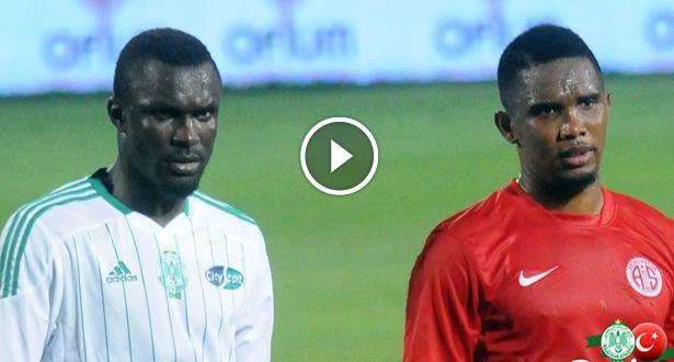 فيديو .. الرجاء يتعادل مع فريق صامويل إيتو في مباراة إعدادية
