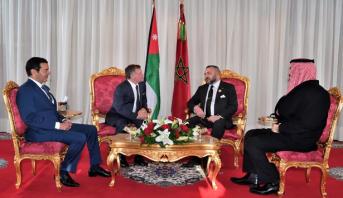 لقاء بالديوان الملكي بالرباط بين الملك محمد السادس وعاهل المملكة الأردنية الهاشمية
