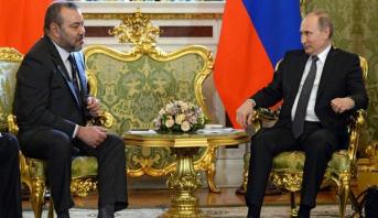 برقية تعزية ومواساة من الملك محمد السادس إلى الرئيس الروسي