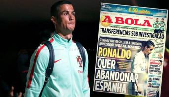 """Cristiano Ronaldo : """"Je m'en vais du Real, il n'y a plus de marche arrière possible"""""""