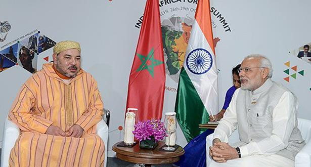 الملك محمد السادس يعبر عن تقديره للموقف البناء للهند من قضية الصحراء المغربية