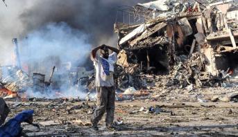 ارتفاع حصيلة ضحايا تفجيري مقديشو إلى 38 قتيلا