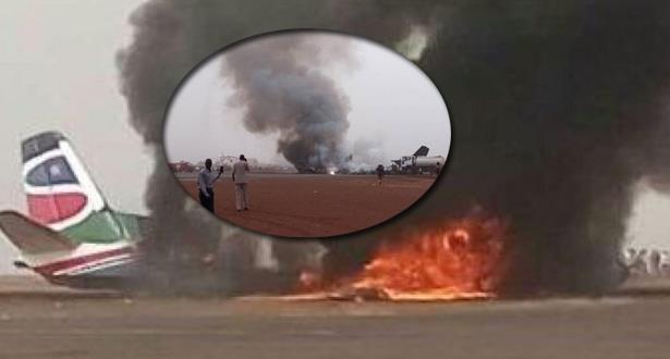 صور.. 14 جريحا على الأقل في تحطم طائرة ركاب في جنوب السودان