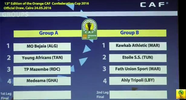Coupes d'Afrique: groupe relevé pour le Wac, duel fratricide entre le Fus et le Kawkab