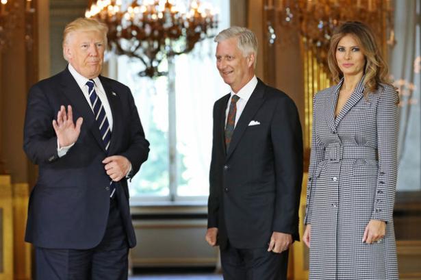 Donald Trump reçu par le Roi Philippe de Belgique
