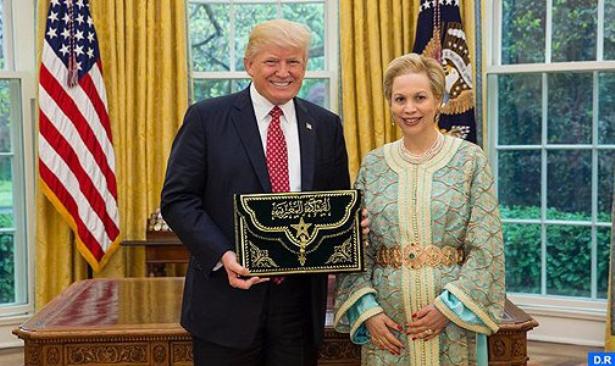 Le Président Donald Trump reçoit le nouvel ambassadeur du Maroc aux Etats-Unis, Chrifa Lalla Joumala